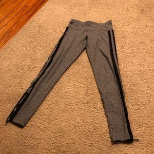 NWOT Calvin Klein performance grey stripe leggings